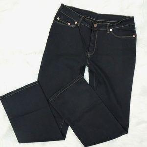Yves Castaldi MU Mid Rise Boot Cut Jeans Black 12